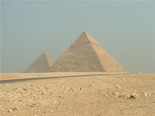 Photographs of the pyramids