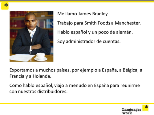Yr10 People working with Languages (Spanish)