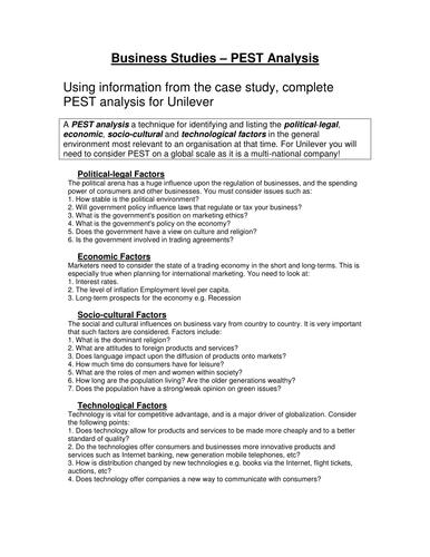 pestle analysis infosys