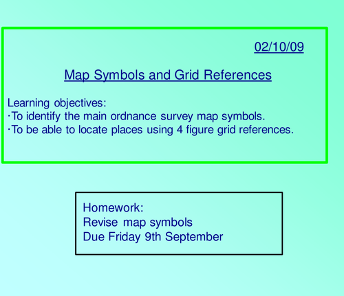 Grid References And Map Symbols By Kerrshawamy Teaching Resources