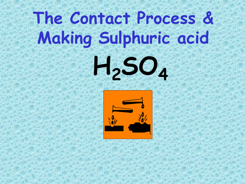 Contact Process Making Sulphuric Acid By Nomad1970 Teaching
