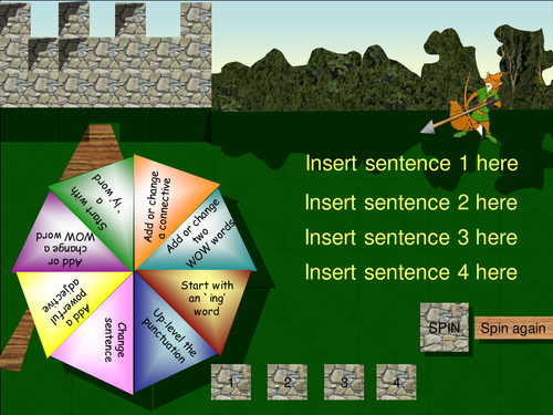 Big Writing - (WB)Spinner Game