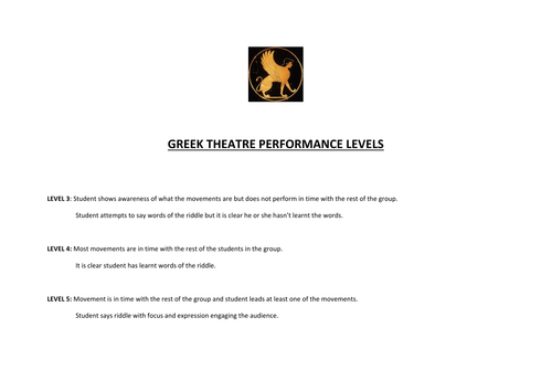Greek Theatre: focus on the role of the chorus