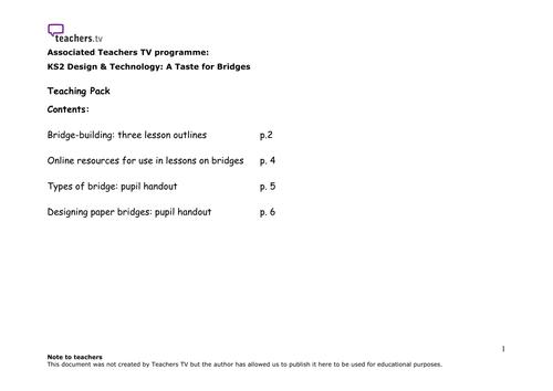 Teachers TV: A Taste for Bridges