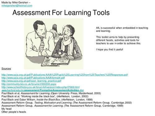 Assessment for learning