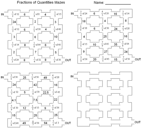 Fractions of amounts maze by frickard Teaching Resources TES – Fractions of Quantities Worksheet
