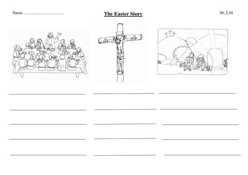 Simplified easter story template