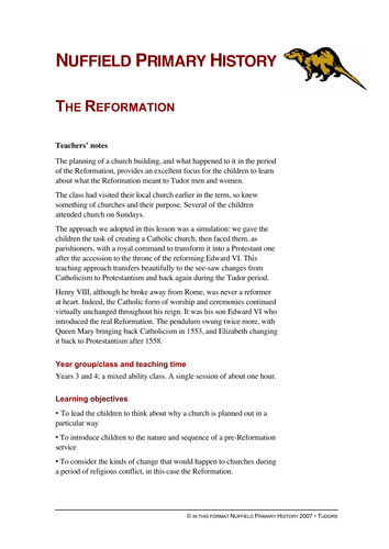 Reformation by nuffieldhistory teaching resources tes ccuart Images