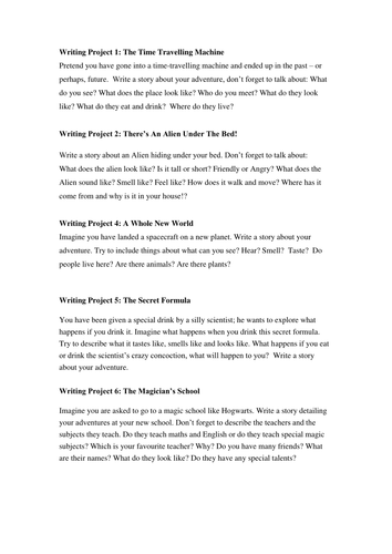 creative writing for primary school