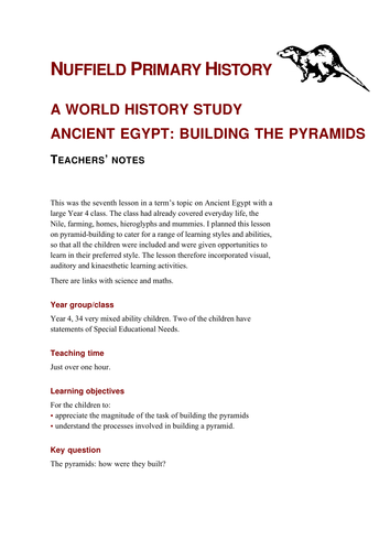 Pyramid building by nuffieldhistory teaching resources tes gumiabroncs Choice Image