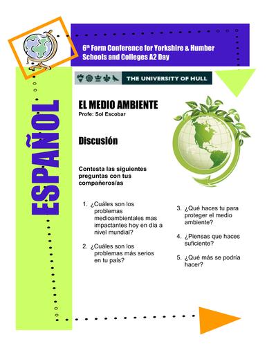 Spanish Environment - El medio ambiente