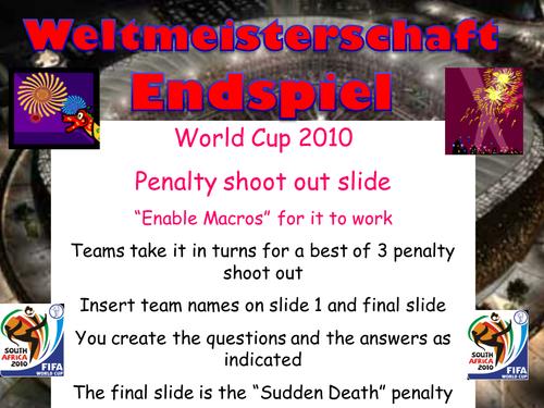 Penalty Shootout Template - German plenary starter