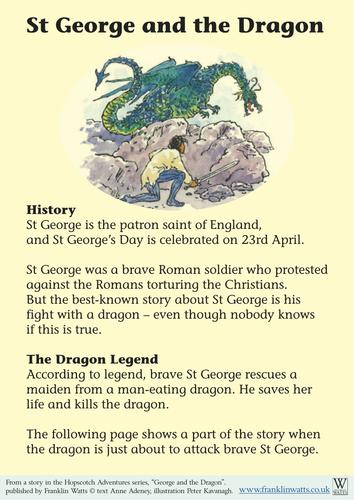 George and the Dragon creative writing worksheet