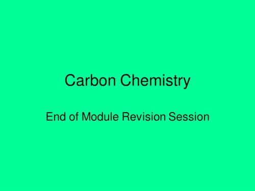 GatewaySci Carbon Chemistry Revision Resource