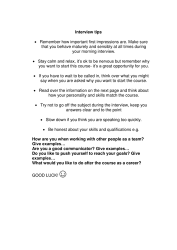job search and interview skills - Formal Cover Letter