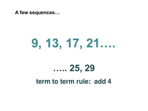 'finding the nth term' sequences level 6/7