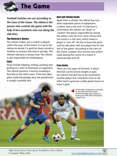 Football rules and World Cup information