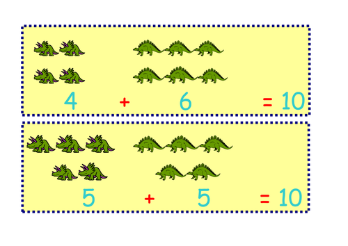 Dinosaur Number Bonds to Ten