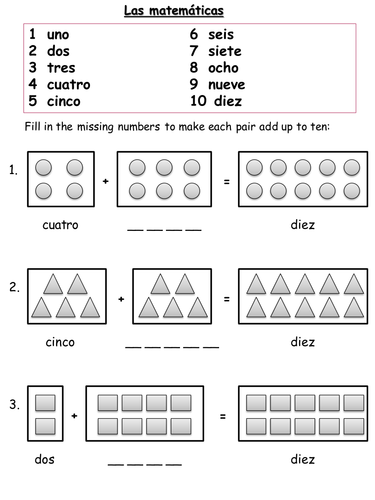 Spanish Numbers Worksheets by shropshire14 | Teaching Resources