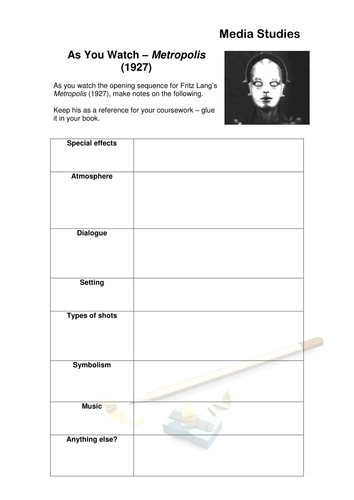 Film And Media Grid Worksheets As You Watch By
