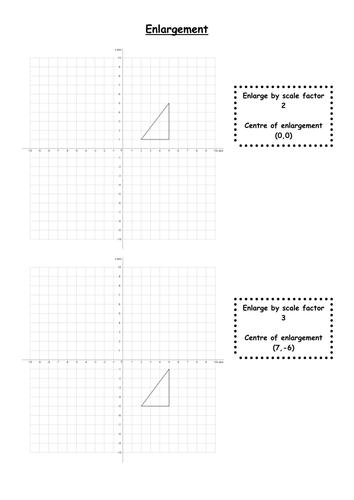 Enlargement Worksheet
