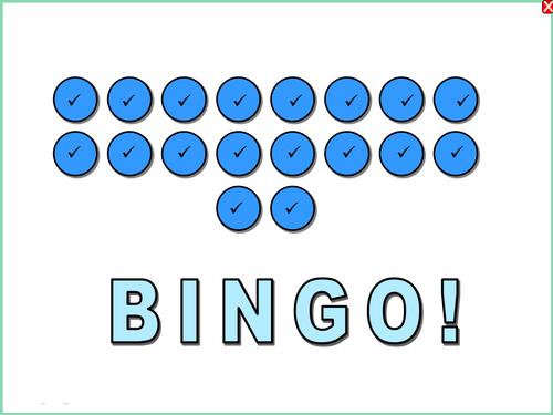 Simplifying Indices Bingo Game