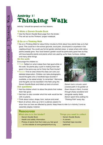 Thinking Walk for 7-8 year-olds