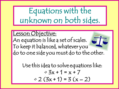 how to teach balancing equations