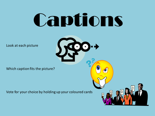 how to add caption to pictures in powerpoint