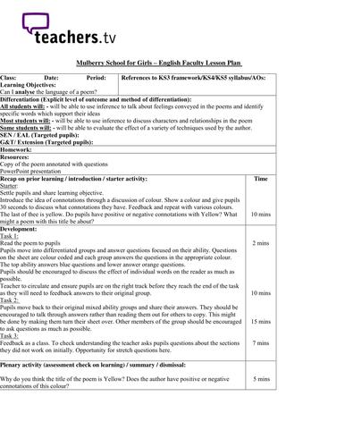 Teachers TV: Secondary SEN - Language and Inclusion