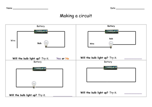 Simple circuits by HamiltonTrust Teaching Resources Tes – Circuit Diagram Worksheet