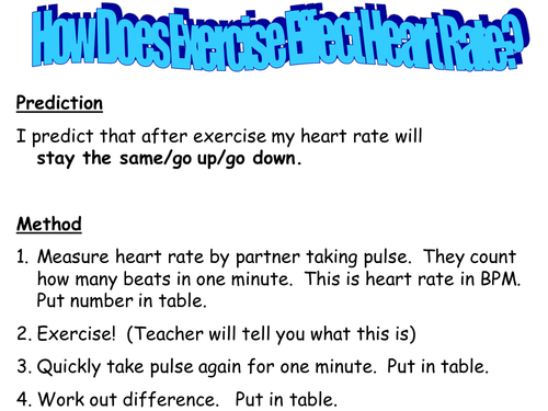 Heart rate practical by TeachBiology Teaching Resources TES – Target Heart Rate Worksheet