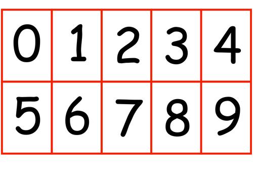 Enterprising image for printable numbers 0 9
