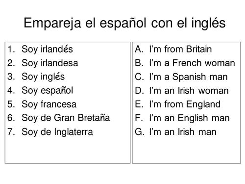 Spanish Languages - Los idiomas
