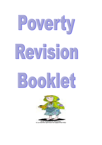Poverty unit revision booklet
