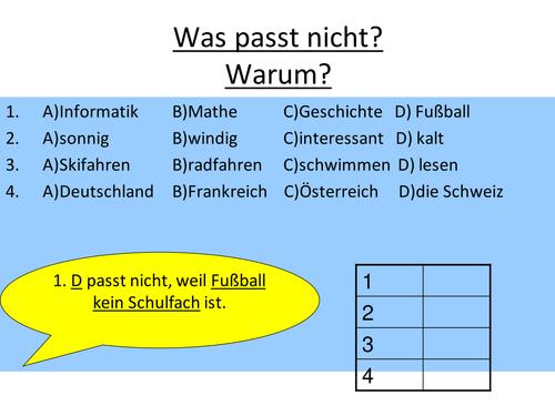 Austria - Um...zu clauses - Speaking Activity