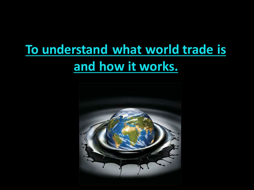Globalisation; World Trade; Interdependence; India