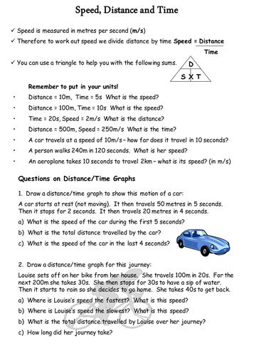 Speed Distance Time Worksheet Algebra Ks By Ngflcymru  Speed Distance And Time