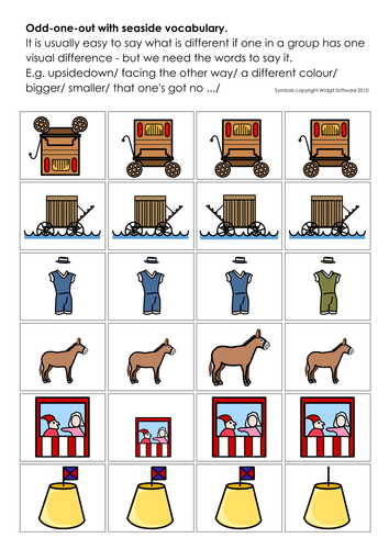 Seaside - illus vocab.(2); counting; worksheets