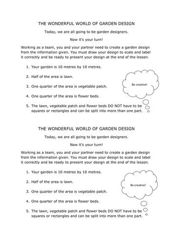 ks3ks4 functional maths task garden design by clongmoor teaching resources tes