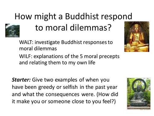 5 Moral precepts in Buddhism