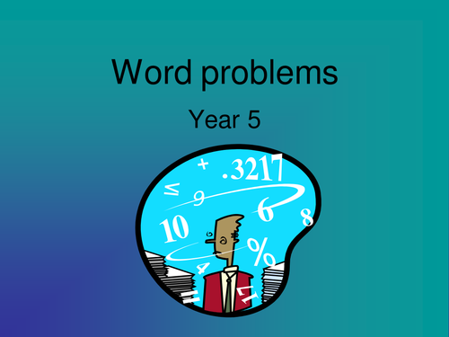 Add and subtract word problems Y5