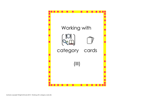 Language of learning - category cards