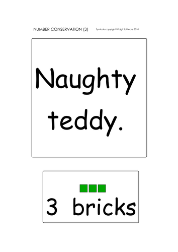 Number conservation: illustrated activity