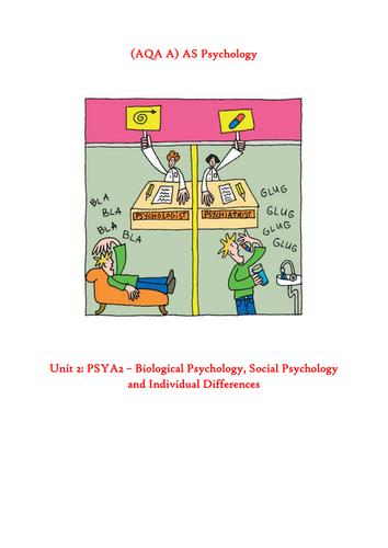 PSYA2 Key studies booklet