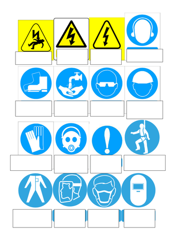 Health And Safety Signs And Symbols By Goldson1 Teaching Resources