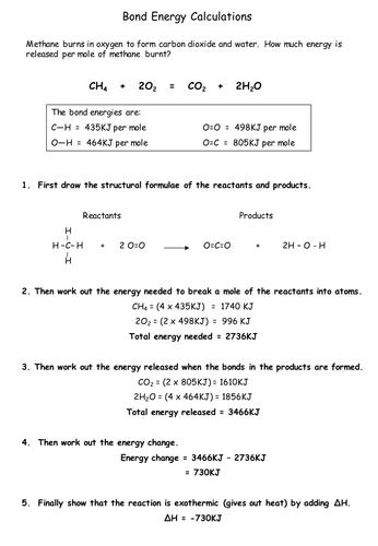 Worksheets Energy Calculations Worksheet bond energy worksheet pixelpaperskin sharebrowse