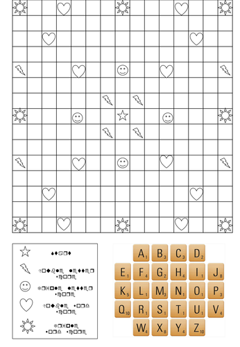 Blank Scrabble Template by rs007 - Teaching Resources - Tes