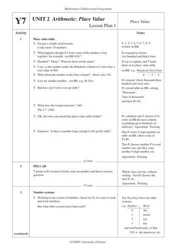 Place Value Worksheets place value worksheets hard : KS3 Maths Place Value (MEP – Year 7 – Unit 2) by CIMT - Teaching ...