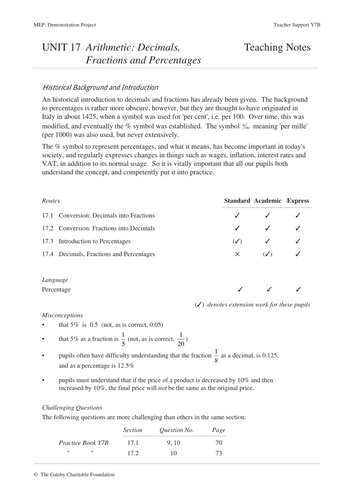 Volume MEP  Year 7  Unit 22 by CIMT  Teaching Resources  Tes